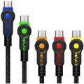 急速充電対応 ナイロンジャケット&高耐久充電 Micro USB ケーブル 5本セット(3m+2m+1m×3)