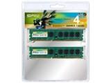Silicon Power SP008GBLTU160V22 DDR3-1600 デスクトップ用メモリ 4GB 2枚組