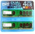 Winchip WVD31333C9U-4GX2 4GBメモリ 2枚組
