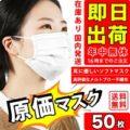 [GW中も出荷] 立体3層構造 不織布マスク 50枚 2,250円 1枚あたり45円