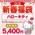 2018年新春 通販オリジナル ハローキティ 5千円福袋 総額約15000円相当