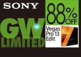 [88%OFF ] ソニー映像制作ソフト Vegas Pro 13 Edit 4,980円他 SONYブランド ソフトウェアが最大88%割引